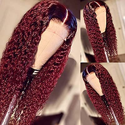 360 lace wig red