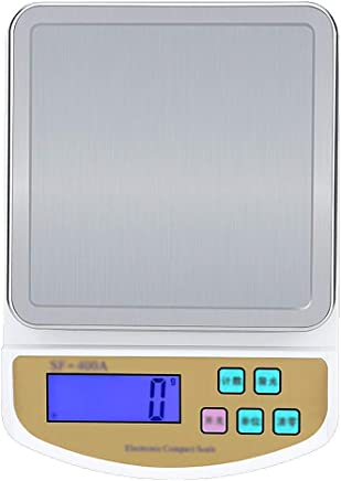 Kitchen Scales - Stainless Steel Scales, LCD Large Screen, 4 Units, Home Multi-Function Intelligent high-Precision Food Baking Small Scales - 3 Range Options (Size : 10kg)