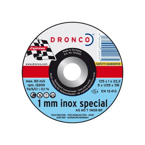 Dronco Lifetime-Plus AS 60 T INOX 115x1x22.23mm, 10 Stück in versiegelter Metallbox