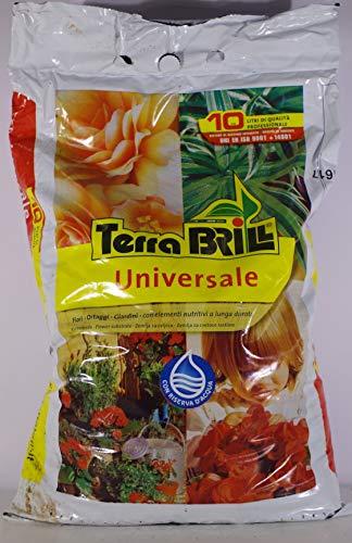 TERRABRILL Universale con RISERVA d'Acqua in Confezione da 10 Litri