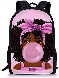 Teenager Backpack Schoolbag for Teens Girls Boys African American Women Pattern