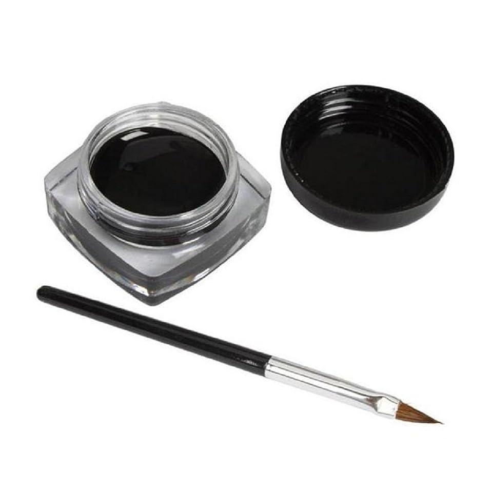 振るうディプロマアウトドア2pc ミニアイライナージェルクリーム YOKINO アイライナージェル 黒 ブラック 防水 アイライナー ペーストペン 長持ち メイク アイメイク 高品質 自然