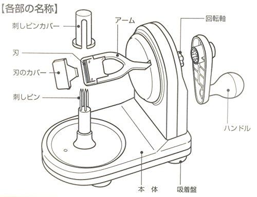 パール金属(PEARLMETAL)アップルピーラーリンゴ皮むき器C-140
