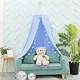 A/N Cuna de bebé, dosel de cama, mosquitera para juegos, decoración perfecta para niños, princesa, niña, dormitorio o habitación de bebé (azul)