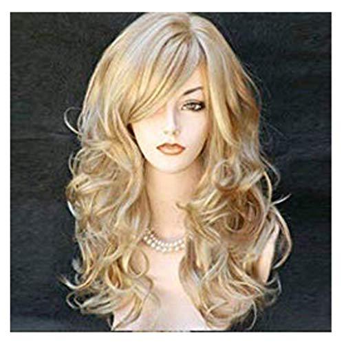 Perruque Femme Naturelle Blonde Frisée 24'' Posional-Lace Frontal 2020 Nouvelle Perruque Synthétique de Haute Qualité-Longue Belle à la Mode Wig