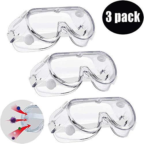 Schutzbrille Arbeitsschutzbrille, Zodight Schutzbrille/Antibeschlag/Antispeichel/Augenschutzbrille transparent Vollsichtbrille für Brillenträger Labor Erwachsene