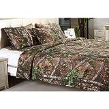 Realtree Xtra Green Micro Peach Super Soft Printed Comforter (King)