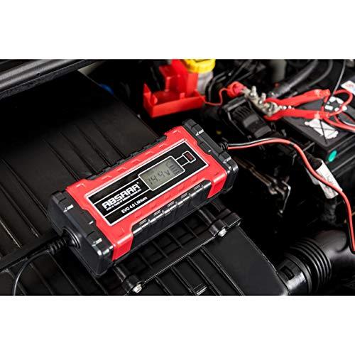 Absaar 158001 Batterieladegerät Evo 4.0 6/12V, Rot/Schwarz, 4A