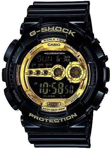 [カシオ] CASIO 腕時計 G-SHOCK ジーショック Black×Gold Series ブラックゴールドシリーズ GD-100GB-1JF メンズ