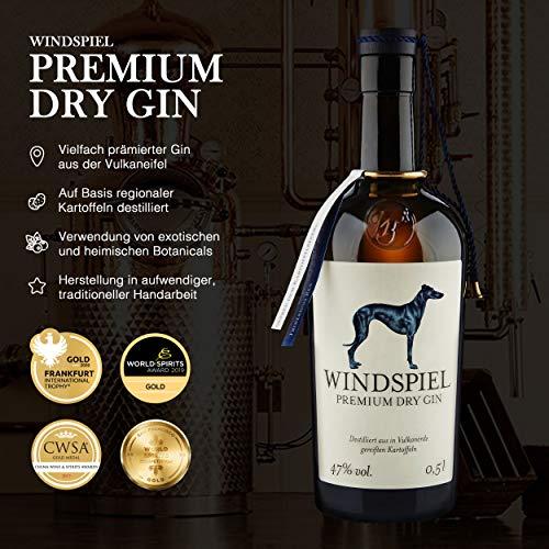 Windspiel Premium Dry Gin 47 % vol. 1 x 0,5 Liter - International ausgezeichneter London Dry Gin aus der deutschen Vulkaneifel - 3