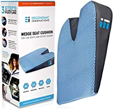 Memory Foam Car Seat Cushion: Breathable, Non Slip, Dual Layer Memory and Polyurethane Lumbar Support Pad; Orthopedic, Coccyx, Pelvic, and Sciatica Pain Relief Wedge For Cars Trucks and Office Chairs