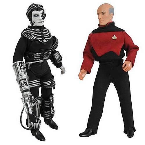 DIAMOND SELECT TOYS Star Trek Retro Series 9 Picard and Borg Figure Set
