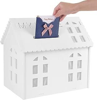 Amon tech Wedding Card Box White House Gift Card Box for Weddings Party Graduations Baby Showers Birthday Wedding Card Holder