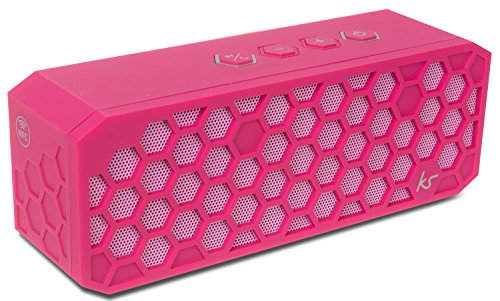 KitSound Hive2 Wireless Bluetooth Tragbarer Lautsprecher mit 3,5mm Audioeingang Kompatibel mit Apple iOS und Android Smartphones, Tablets und MP3-Playern - Pink