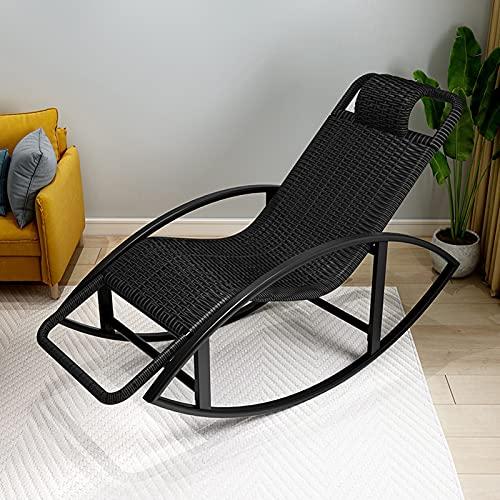 MRDUEWS Mecedora Zero Gravity, Mecedora De Bambú, Tumbonas Grandes, Tumbona A Prueba De Sol, Muebles De Jardín Y Patio con Reposacabezas para Relajarse, Leer Y Tomar El Sol