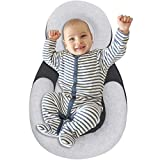 Organic Portable Baby Bed Newborn Lounger Pillow, Head & Neck Support Pillow & Mattress, Preventing Flat Head Syndrome for Infants Newborn Baby Snuggle & Nest Pillow for Baby Pillow, Baby Head Shaping