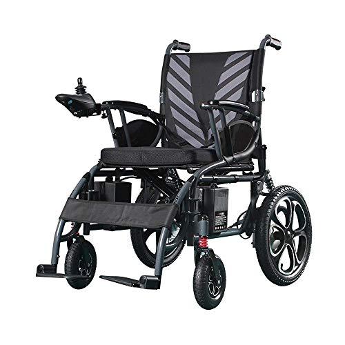 CCLLA Silla de Ruedas eléctrica para Adultos, Acero Inoxidable, con Dos potentes Motores, Segura y fácil de Conducir Sillas de Ruedas para Personas Mayores discapacitadas y discapacitadas Uso