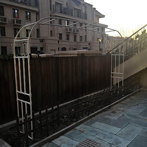 HDDH Arco de Metal para Bodas,Arco de Jardín, Plantas Trepadoras Rosas Soporte de Flores, para Patio Trasero, Césped, Patio, Decoración PE Bodas, 150x267x50cm