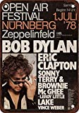 WallAdorn 1978 Bob Dylan and Eric Clapton in Germany Eisen