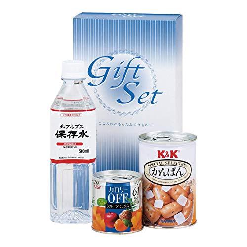 Gift 金額で送料変わります 非常食安心セット B4043-617 災害 防災 地震 台風 粗品 贈り物 保存水 かんぱん 缶詰 粗品