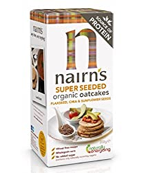 Delicious crunchy gluten-free super seeded oatcakes Packed with delicious flax, sunflower and chia seeds High in fibre Use with your favourite sandwich filling as a topping Source of protein