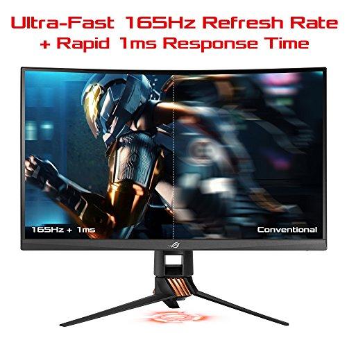 ASUS ROG SWIFT PG27VQ 27'' WQHD Monitor Gaming Curvo, 2560 x 1440, 1 ms, 165Hz, DP, HDMI, USB 3.0, AuraSync, G-SYNC