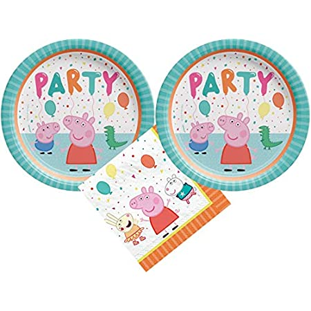 Peppa Pig Kids Party /& Tableware plates cups napkins tablecloth loot bags balloo