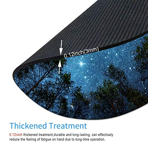 Smooffly Beautiful Night Sky Round Mouse Pad, The Milky Way and The Trees Mouse Pad,Sublime Forest Nature View Circular Non-Slip Rubber Mousepad Gaming Mouse Pad Photo #4