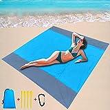 URXTRAL Beach Blanket Sandproof Waterproof, Sand Free Beach Blanket Oversized for 4-7 Adults,Compact Beach Mat Sand Proof Waterproof Pocket Blanket,Durable Large No Sand Beach Blankets(79''x82'')