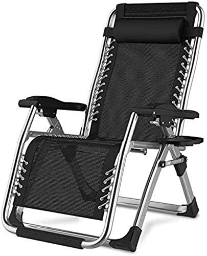 Chairs Sun Lounger Leisure with Pillows Reclining Garden Heavy Duty Recliner Sun Lounger Folding Reclining Adjustable Garden Outdoor Patio Deck Sling (Color : A)