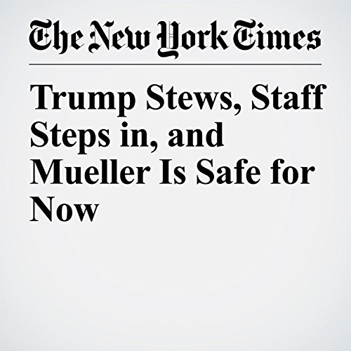 Trump Stews, Staff Steps in, and Mueller Is Safe for Now copertina