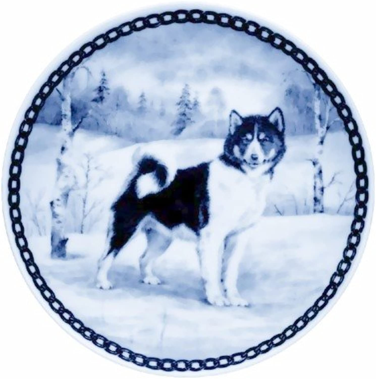 Canadian Eskimo Dog   Lekven Design Dog Plate 19.5 cm  7.61 inches Made in Denmark NEW with certificate of origin PLATE  7202