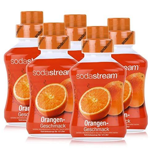SodaStream Getränke-Sirup Softdrink Orangen Geschmack 500ml (5er Pack)