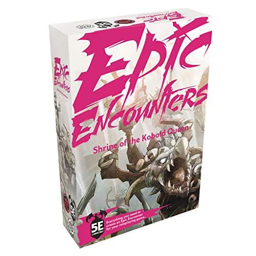 Epic Encounters: Shrine of the Kobold Queen - RPG Fantasy gioco da tavolo con 20 miniature, tappetino da gioco double-face, e Game Master Adventure Book con Monster Stats, compatibile 5E