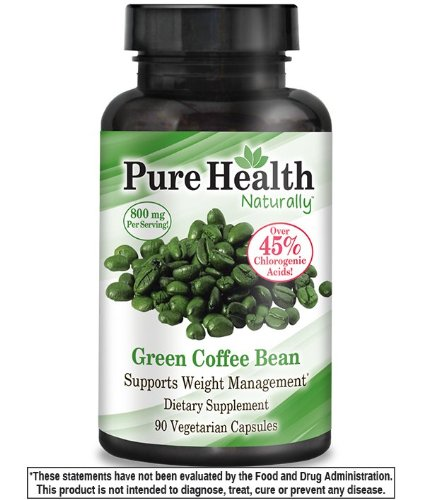 Pure Health Green Coffee Bean Extract 800 Mg Capsules 90