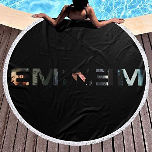 E_M_I_N_E_M Toalla de playa redonda de gran tamaño, toalla redonda de piscina, toalla de playa de secado rápido, toalla de playa redonda para viajes, natación, baño, yoga, camping