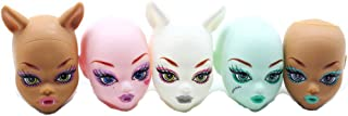 Globalwells 5pcs doll heads for ever after Dolls,DIY Doll Accessories Heads For Monster toys high doll Heads