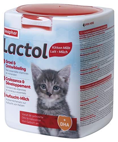 Beaphar - LACTOL - Lait maternisé pour chaton en poudre - Enrichi en DHA - Source de protéines de haute qualité - Pour chaton non sevré, femelle gestante ou allaitante et chat âgé ou malade - 500 g