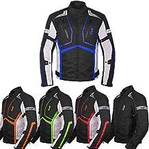 Motorcycle Jacket For Men Textile Motorbike Dualsport Enduro Motocross Racing Biker Riding CE Armored Waterproof All-Weather (Blue, Medium)