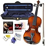 Bunnel Premier Violin Clearance Outfit 4/4 Full Size - Carrying Case and Accessories Included - Highest Quality Solid Maple Wood and Ebony Fittings By Kennedy Violins