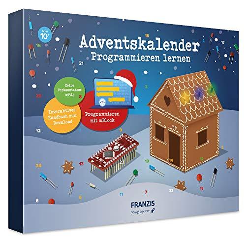 FRANZIS Adventskalender Programmieren lernen 2020 | In 24 Schritten lustige Lebkuchenhaus-Projekte programmieren |Ab 10 Jahren