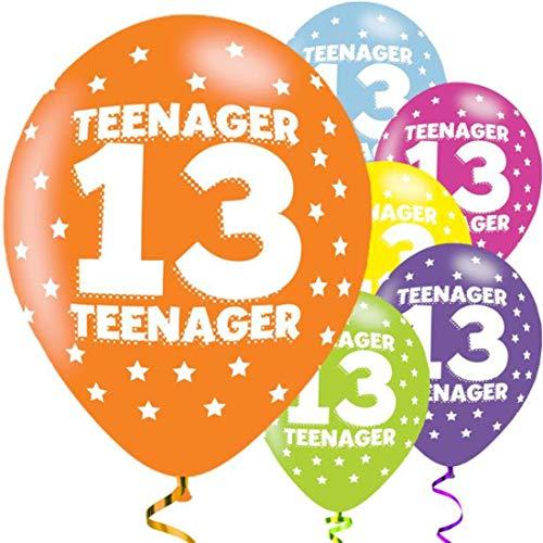 Amscan 990070927,9cm Teenager 13Latex Luftballons, Sortiert