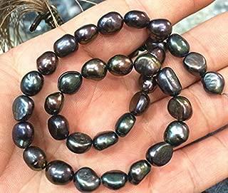 Calvas Natural 7-8MM Tahitian Black Pearl Baroque Loose Beads 14