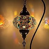 Lámpara turca (10 variaciones) - Lámpara de mesa de mosaico hecha a mano - Lámpara decorativa marroquí - Lámparas rústicas Cool Mosaico - Bombilla LED incluida con caja especial… (10)