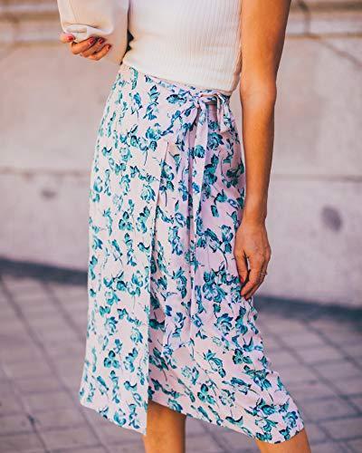 The Drop por @balamoda - Falda cruzada con estampado floral para mujer