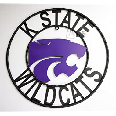 NCAA Kansas State Wildcats Collegiate Wrought Iron Wall Decor, Black/Purple, 24-Inch
