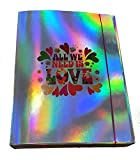 Carpeta con elástico 'All we need is love'