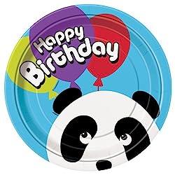 Birthday Panda Dinner Plates