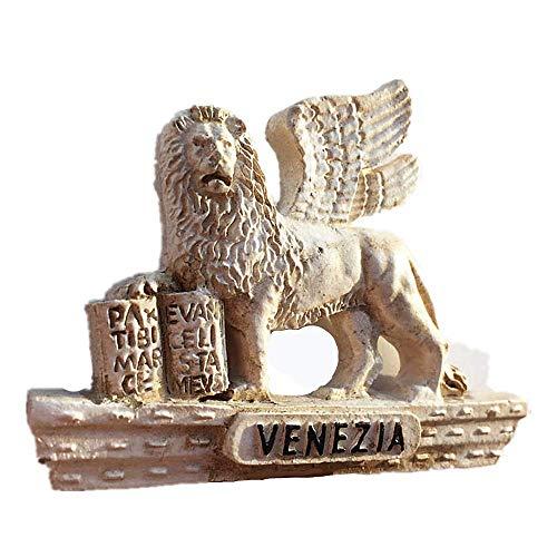 Magnete da frigorifero 3D con leone alato di Venezia in 3D per frigorifero, idea regalo, regalo per casa e cucina, decorazione per frigorifero Venizia Italia