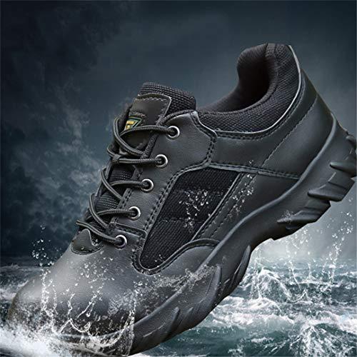 Chaussures de randonnée en Plein air Trekking Bottes Hommes Militaire Tactique Swat Chaussures Escalade Léger Bottes de Montagne Femmes Black 10